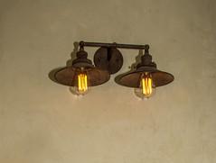 lamp, light fixture, sconce, metal, light, lighting,