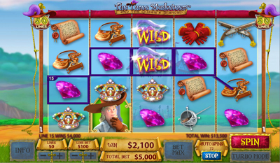 The Three Musketeers and the Queen's Diamond slot game online review