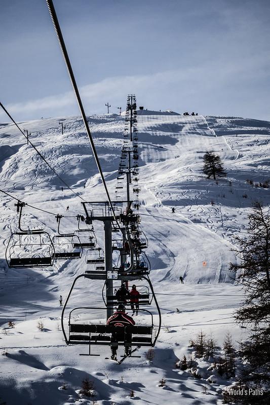 Snowboard seggiovie del monginevro