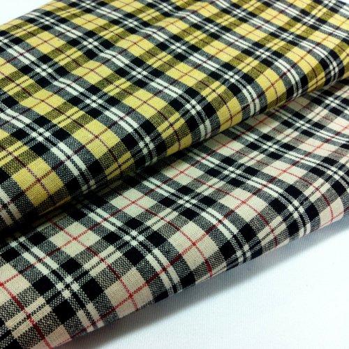 格  簡約 格紋 桌巾門簾 襯衫服裝布料 FC390402