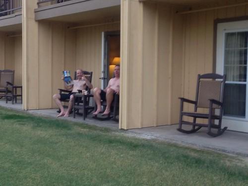 semi naked Val Doonican lookalike contest