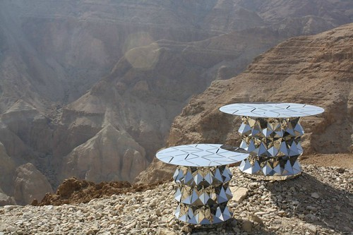 Folded Stainless Steel Tables by Ilan Garibi