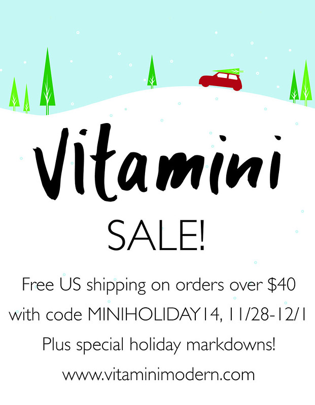 Vitamini Holiday Sale 2014 | www.vitaminimodern.com