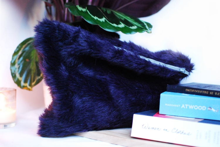 DIY Faux Fur Clutch Whistles inspired