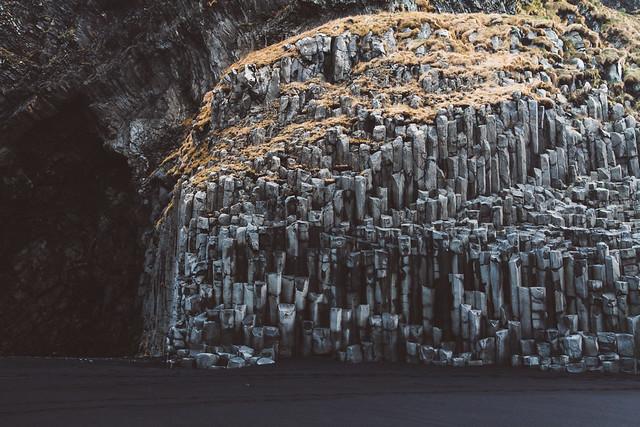 Basalt columns at Reynisfjara