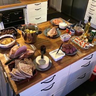 I år kom jag att fotografera maten innan vi kastade oss över den som en flock hungriga vargar.