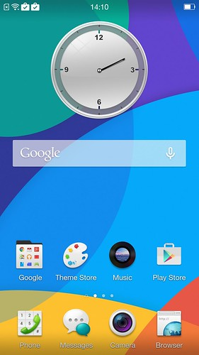 Home screen ของ Oppo R5