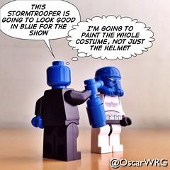 #LEGO #BlueManGroup #BlueMan #Blue #BMG #StarWars #Stormtrooper @bluemangroup @starwars