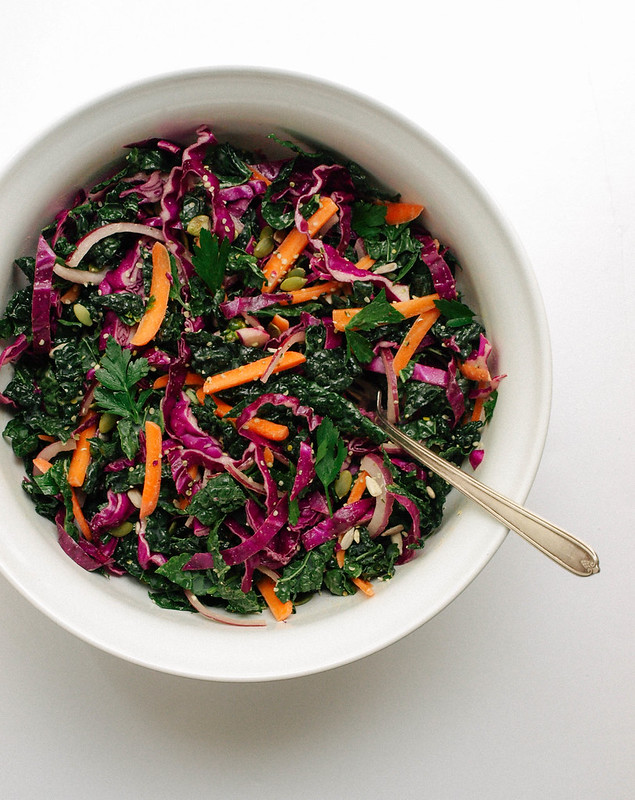 Kale + Red Cabbage Slaw