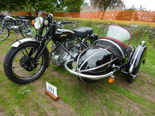 1953 Vincent Rapide with Steib Sidecar - Glamis Extravaganza 2014