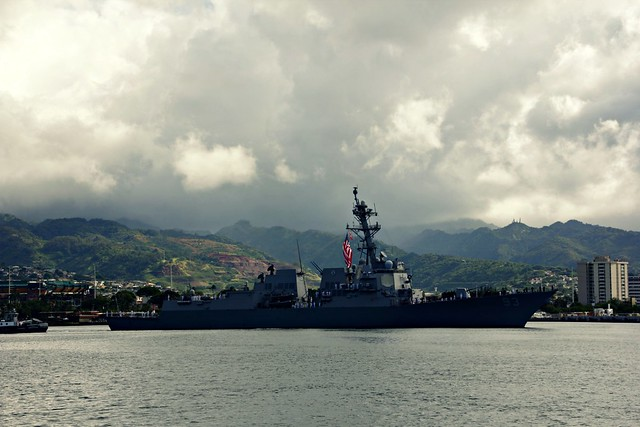 Boat in Pearl Harbor