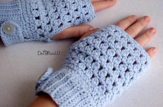 guanti senza dita lana acrilica azzurra  6
