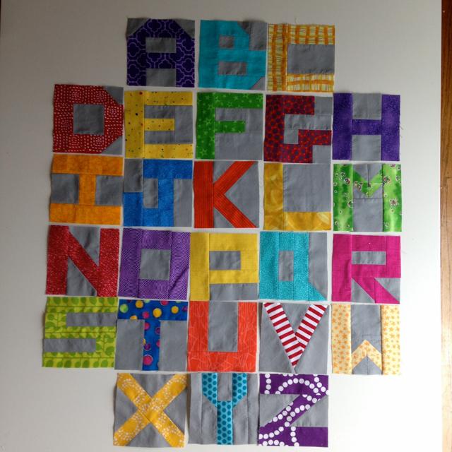 Little Letters blocks in brights