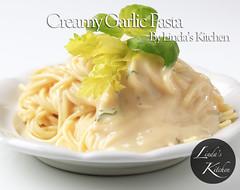 Spaghetti with creamy sauce