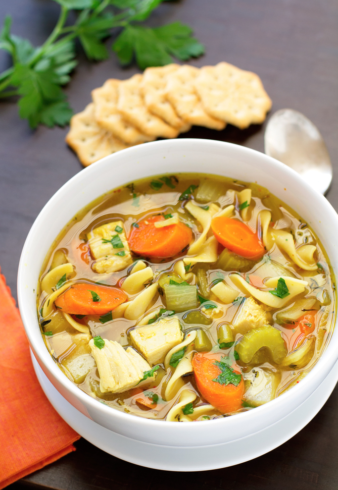 Chicken Noodle Soup {Slow Cooker}