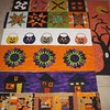 This weeks #UFO #Halloween #quilt #SewMod row quilt. Think I'll add some appliquéd cats and trees with some #spooky inspiration from #rileyblake