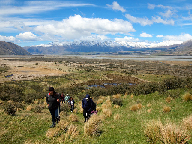 Climbing up Mount Sunday (Edoras)