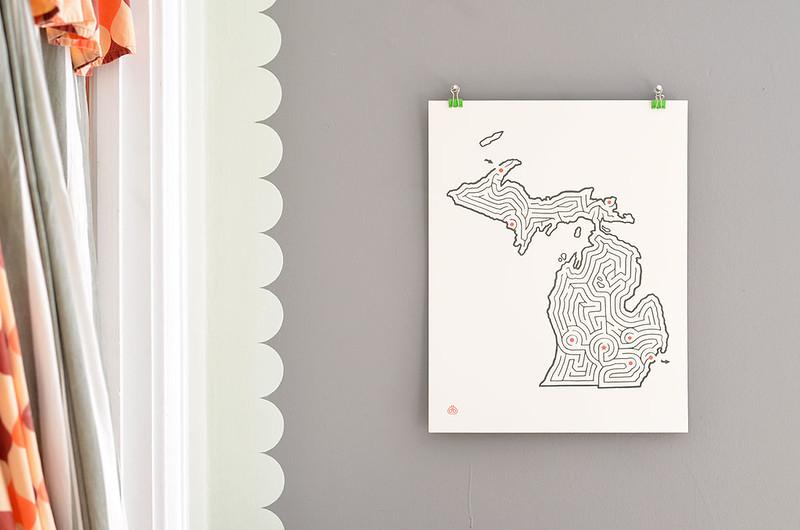 State Maze Prints