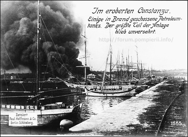Petroleum tanks in fire  at Constanta,Romania