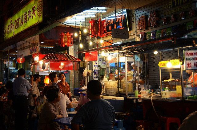 Puestos de comida en Chinatown, Bangkok