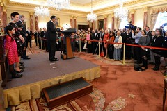 U.S. Ambassador to India Rich Verma delivers remarks at his swearing-in ceremony, at the U.S. Department of State in Washington, D.C., on December 19, 2014. [State Department photo/ Public Domain]