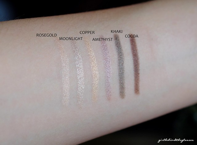 Laura Mercier Mini Caviar Stick Set swatches