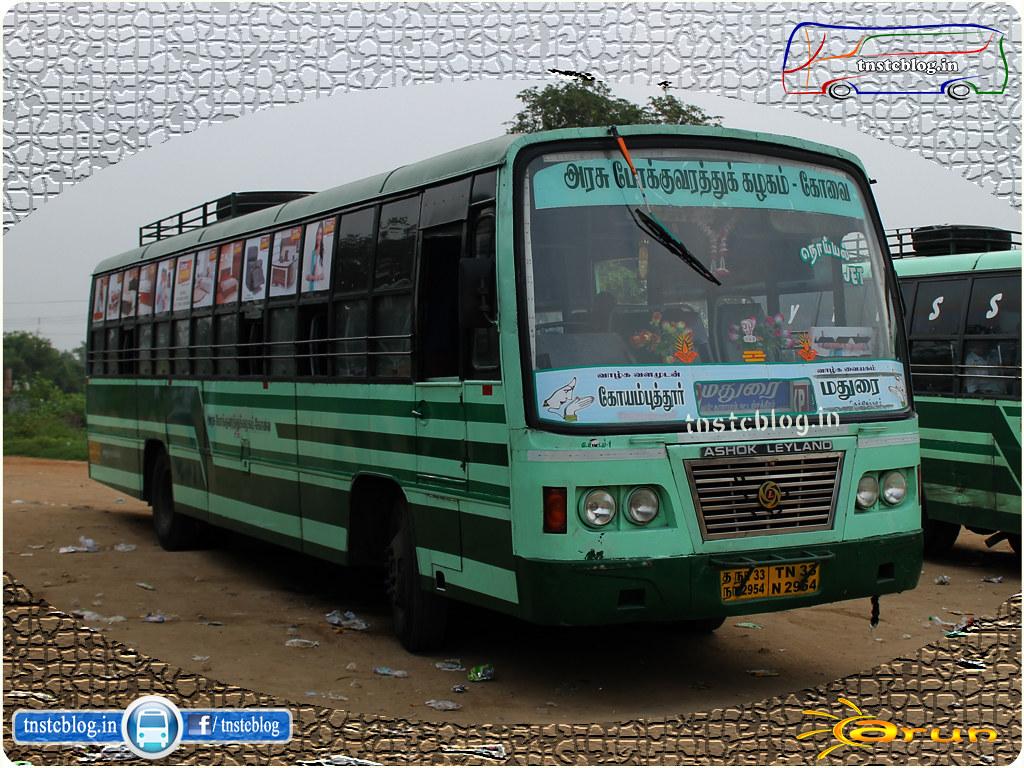 TN-33N-2954 of Ukkadam 1 Depot Route Coimbatore - Madurai Noyyal Jet Express.