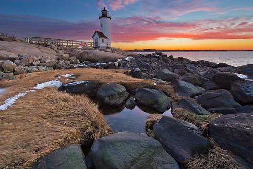 sunset lighthouse massachusetts gloucester annisquam canon6d canonef14mmf28lii