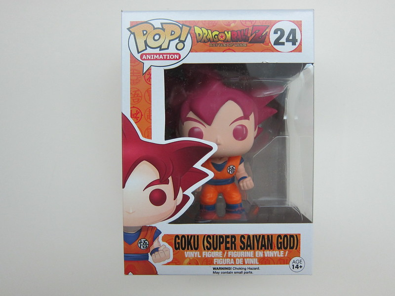Funko Pop Goku (Super Saiyan God) - Box Front