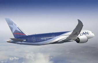 LAN B787-8 en vuelo (LAN)