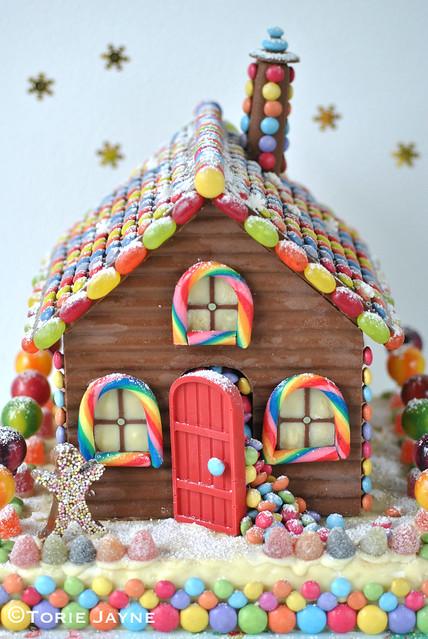Homemade chocolate house 1