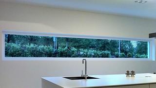 Horizontal kitchen window