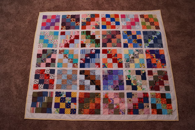 Quick quilt gift--Scrappy 16 patch