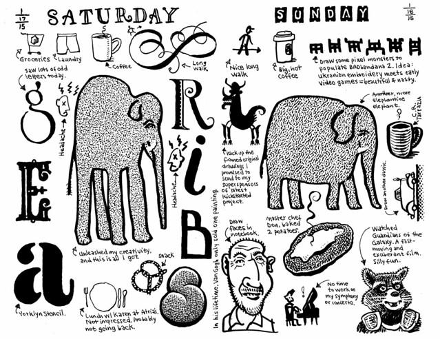 My elephantine weekend