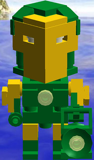 Cube Dude Iron Lantern