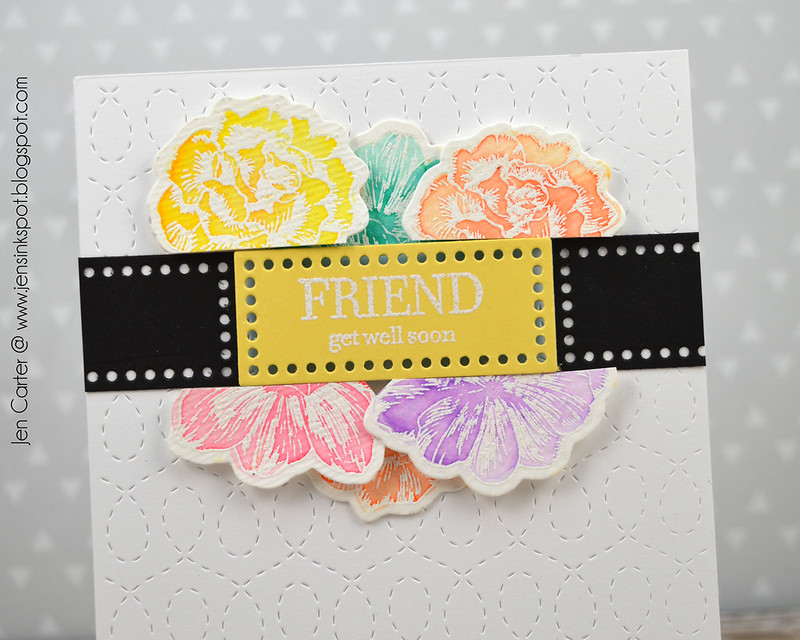 Jen Carter Vintage Flowers Friend Get Well Closeup
