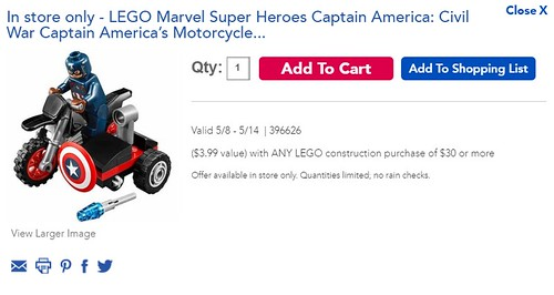LEGO Marvel Super Heroes Civil War Captain America's Motorcycle (30447)