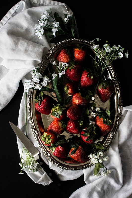 strawberries still life