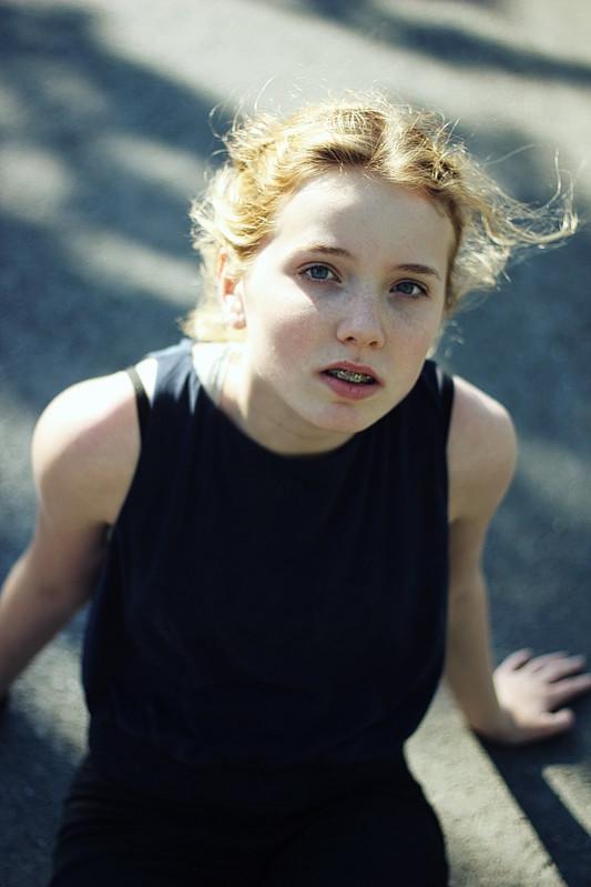 Fotografie Mädchen Sommersprossen Sonne