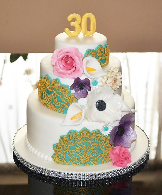 Floral Delight Cake by Michelle Nelson