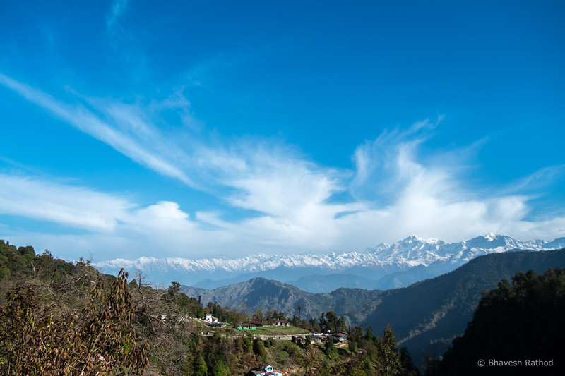 Himalayas outskirts of Mukku Village, Utttarakhand