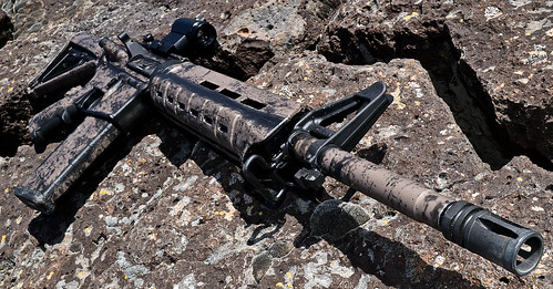 Battle Worn Dark Earth AR-15