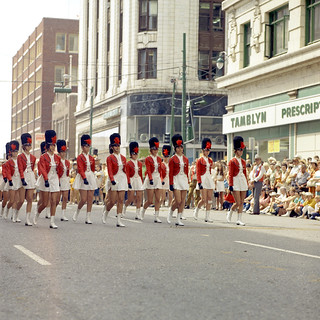 Marching band in the Calgary Stampede Parade