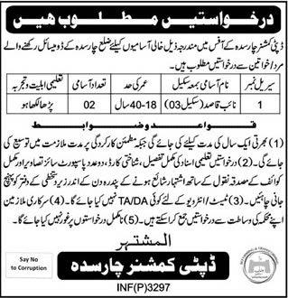 Deputy Commissioner Charsada Naib Qasid Job