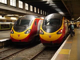 Virgin Trains Class 390's at London Euston