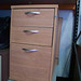 Wooden ped three drawer
