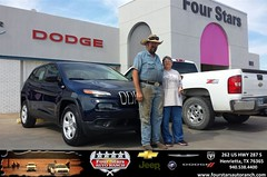 Congratulations to Brenda Campsey on your #Jeep #Cherokee purchase from Tracey Frerich at Four Stars Auto Ranch! #NewCar