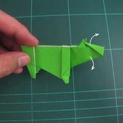 การพับกระดาษเป็นรูปแรด (Origami Rhino) 029