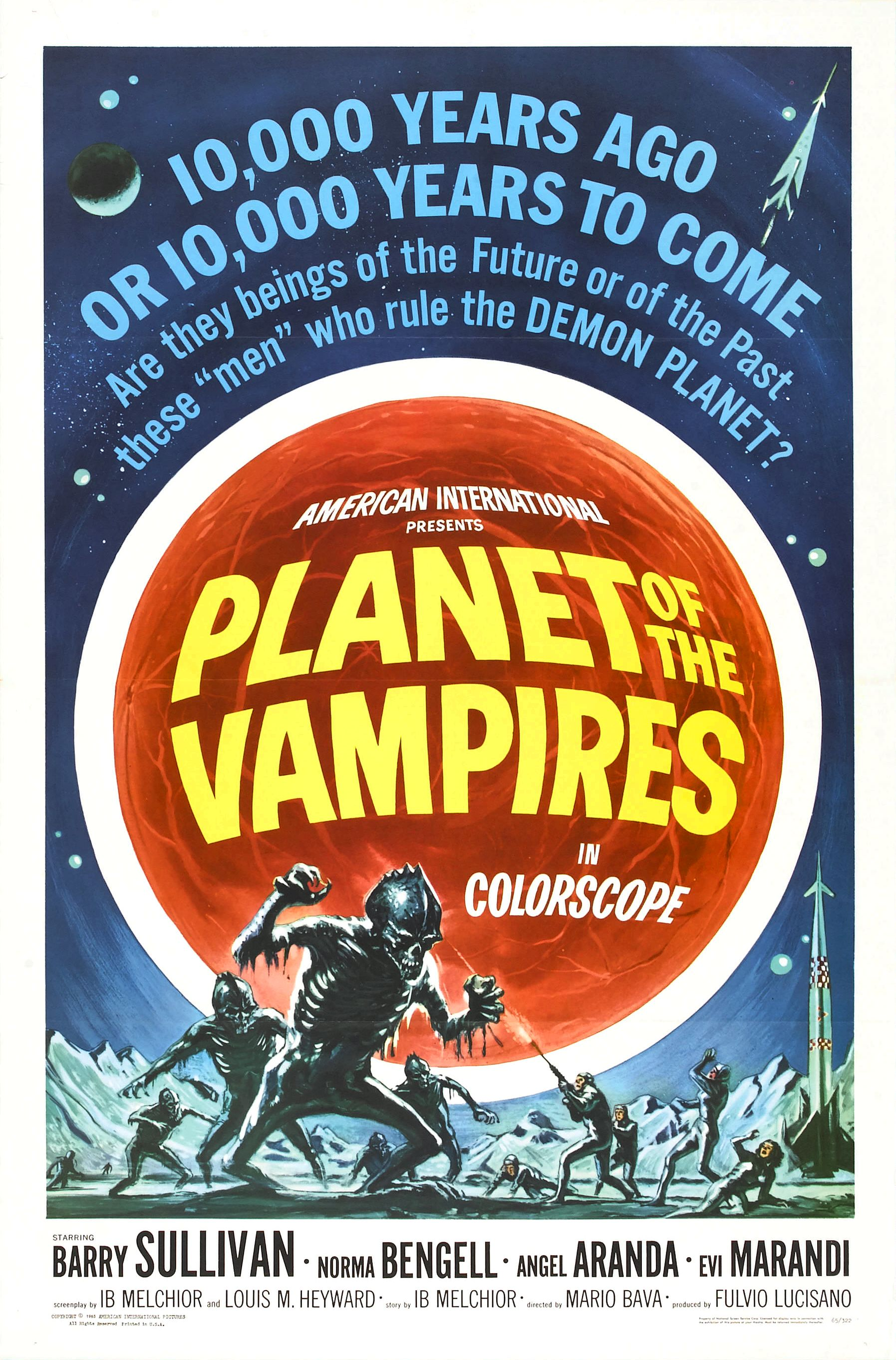 Planet of the Vampires (1965) | Amazing Movie Posters