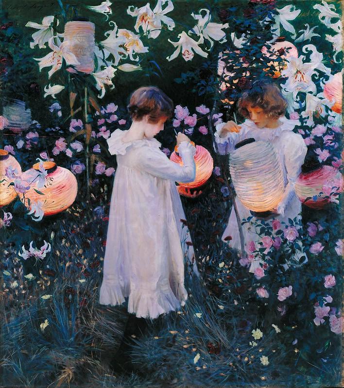 John Singer Sargent - Carnation, Lily, Lily, Rose (1885)